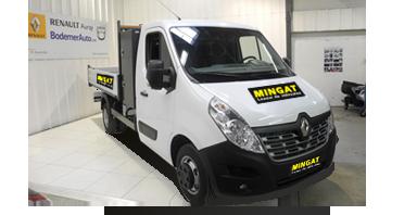 Mingat Renault Master location benne basculante + coffre