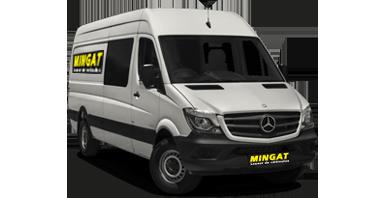 Mingat location fourgon 10 m3 double cabine Mercedes Sprinter