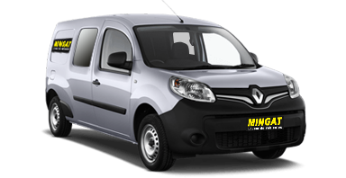 Mingat location fourgon 3 m3 Double cabine Renault Kangoo